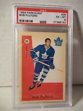 1959 Parkhurst Bob Pulford PSA EX-MT 6 Hockey Card #28 NHL HOF