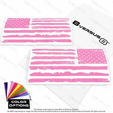 "13"" 20"" Distressed US American Flag Vinyl Car Decal Sticker Jeep Hood USA Grunge"