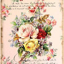 FRENCH ROSES Ceramic Romantic KNOB door cabinet drawer chic shabby pull wallpape