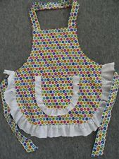 CHILDS APRON  IN COLOURFUL DOTS SIZE 3 - 4 - 5