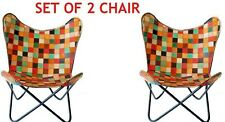 Pack of 2 JOKER STYLE Butterfly Chair Iron Stand and Leather Cover