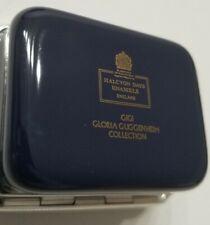 "Halcyon Days Enamels Box. Guggenheim Collection England Rare Dark blue ~ 1.5""x1"""