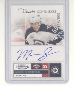 Mark Scheifele auto card /800 2011-12 Panini Calder Contenders NM Winnipeg Jets