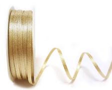 Christmas Ribbon - Berties Bows - Gold Sparkle 3mm Ribbon - 5 METRE LENGTH