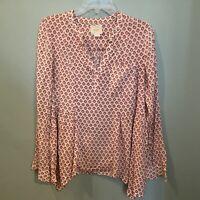 Maeve Anthropologie Womens Size 6 Laiken Pink Print Blouse