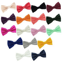 Premium Jacquard Dickie Plain Solid Check Adjustable Pre-Tied Men's Bow Tie