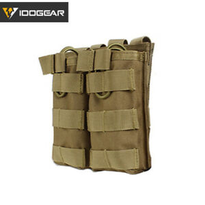 IDOGEAR Tactical Mag Pouch Double Molle MAG Carrier 5.56 Military Camo Military