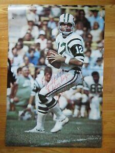 1970 JOE NAMATH signed Sports Illustrated NEW YORK JETS Poster SUPER BOWL PSA