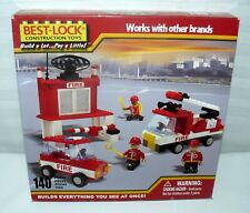 Best Lock Construction Toys 140 Pcs Works With Other Brands Fire Truck Building