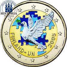 Finlandia 2 euros conmemorativa 2005 stgl. 60 años de las Naciones Unidas en color