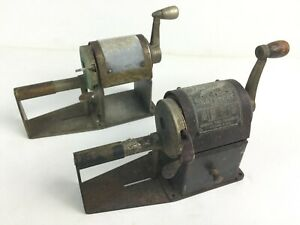 Pair Vintage Dandy Automatic Pencil Sharpeners - Rockford, IL