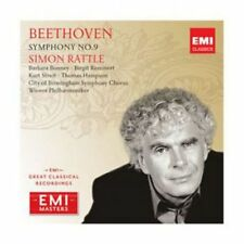 BEETHOVEN - SYMPHONY NO.9 - SIMON RATTLE - CLASICA - EMI MASTERS [CD]