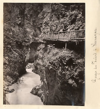 Suisse, Vernayaz, gorges Du Trient Vintage albumen print  Tirage albuminé