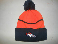 Denver Broncos Blue Knit Winter Hat(Fold Up Style) - NEW - Free US Shipping!!