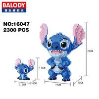 Balody Lilo & Stitch Alien Monster DIY Diamond Mini Building Nano Block Toy 2pcs