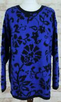 LAURA ASHLEY Wool/Cotton Blue Jumper Size M