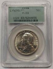 1936 Lynchburg Commemorative Silver Half Dollar Graded PCGS MS63 Beautiful  8036