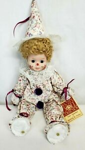 "Vintage Dynasty Doll Collection DIMPLES THE CLOWN 16"" Porcelain Doll NM w TAGS"
