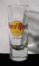 Hard Rock Cafe Tall Shot Glass La Jolla California Black letters