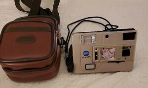 Minolta Disc-7 Disc Film Camera - Excellent Condition w/Camera Bag