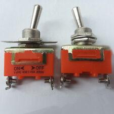 250V 15A 2 Pin Palanca ON-OFF interruptor enclavamiento Terminal Auto Dash