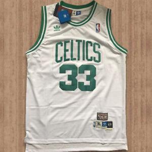 NWT Larry Bird #33 Boston Celtics Basketball Stitched Jersey Men's Size M L XL