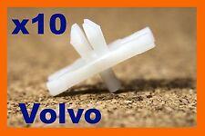 Cuerpo De Puerta Volvo 10 tira de moldeo Bump frotamiento clips sujetadores plásticos