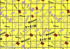Math School Theme Yellow Grid Vinyl Contact Paper Shelf Drawer Liner Peel Stick