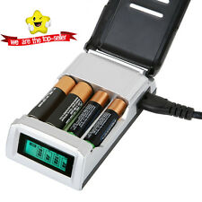 1Stock Hot Fast Alkaline AND Ni-Mh Intelligent LCD AA and AAA Battery Charger UK