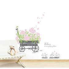 Wandsticker Wandtattoo Sweet Love Blumenhandwagen Selbstklebend Ablosbar