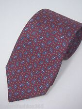 """""""Tom James"""" Mens 100% silk Tie Hand made.. In True red with circles and diamonds"""