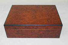 wooden cigar humidor box - Walnut color H215