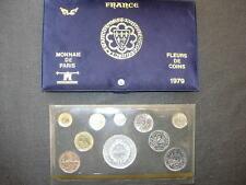 COFFRET 1979 FRANCE MONNAIE DE PARIS FLEUR DE COIN FDC BU 50 Fr HERCULE Argent R