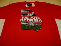 WE ARE University of GEORGIA BULLDOGS State Outline FOOTBALL T-Shirt New! NWT LG