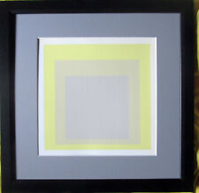 JOSEF ALBERS >Hommage to the Square< Original Siebdruck 19x19, mit Rahmen, SUPER