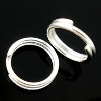 New Silver Plated Metal Double Loop Split Jump Ring Jewelry 4,5,6,8,10,12,14mm