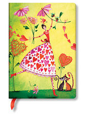 Paperblanks Lined Writing Journal Valentina Hearts Mila Marquis Midi Size 5X7