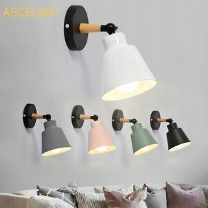New Modern Nordic Style Wood Minimalist Wall Lamps