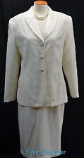 ST. ANTHONY EVENING ivory beaded church skirt suit jacket MOB Blazer set SIZE 8