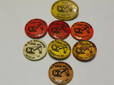 Lot of (8) Vintage H&P Engineers Labor Union Steam Shovel Pin Back Button