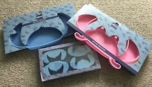 BNWT Official Disney Blue Stitch Pink Angel Silicone Cake Cookie Baking Mould