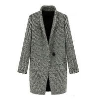 Womens Indie Outerwear Trench Peacoat Warm Tweed Winter Coat UK Size 6-20