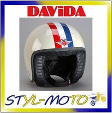 80291 CASCO DAVIDA 80-JET TWO TONE CREAM / RED WHITE BLUE STRIPE XXL