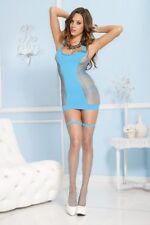 Top e canottiere da donna blu glamour