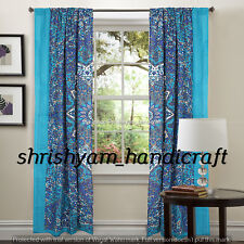Window Curtain Drape Panel Sheer Scarf Valances Indian Mandala Tulle Voile Door