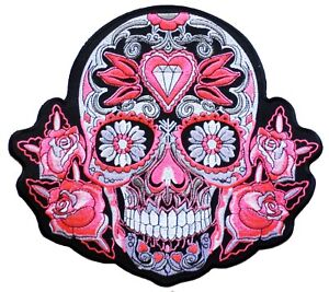 Ecusson Mexican Tattoo Skull patche dorsal dos grande taille patch DIY grand