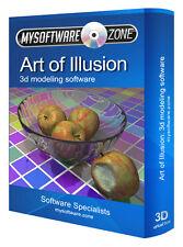 Art of Illusion Advanced 3d Design Modelling Software Program on Cd-rom