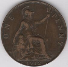 1912 H George V One Penny   British Coins   Pennies2Pounds