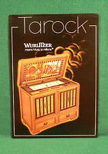 Original Wurlitzer Tarock Jukebox Brochure, Tavern Scene
