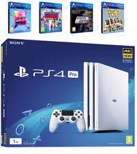 PS4 Pro Playstation 4 Pro Bianco 1TB + 4 GIOCHI * NUOVO * spedizione in tutto il mondo